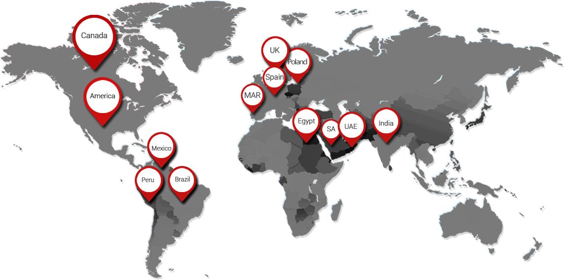 world map of Ningbo Promise business